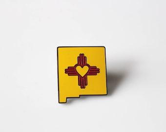 New Mexico Zia Enamel Pin / Heart Zia / New Mexico State Pin/ New Mexico Pride / Zia Symbol / NM Pin/ Enamel Pin Zia