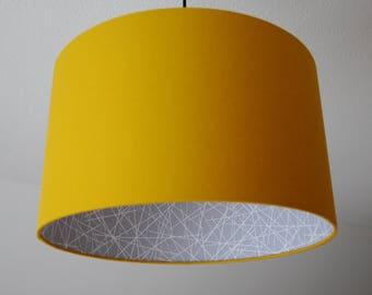 "Lampshade ""Curry Yellow-scribble"""