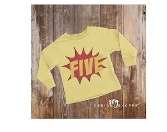 Fifth Birthday SVG Files, First Birthday, Boy Birthday, Superhero Birthday, Silhouette Cameo, Cricut Design Space, Printable Clipart