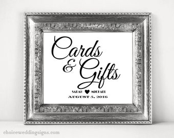 Cards And Gifts Sign For Your DIY Wedding In PDF + Jpeg Format SKU# CWS304_1122C