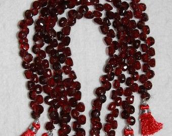 Garnet, Red Garnet, 6 mm, Garnet Briolette, Faceted Briolette, Semi Precious Bead, Natural Stone, Red Briolette, HALF Strand, AdrianasBeads