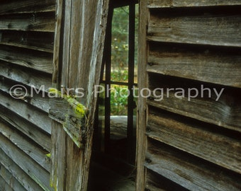 Abandoned Deserted Schoolhouse Weathered Wood Rural Georgia Historical, Fine Art Photography matted & signed 8x12  Original Photograph