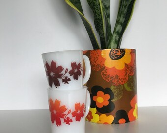 Vintage Agee/Crown Pyrex 'Cape Tulip' Mugs Retro Coffee Mug
