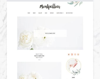 WordPress Theme — Montpellier — Responsive Wordpress Theme — Wordpress Blog Theme — Feminine Wordpress Theme