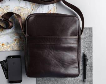 Leather messenger bag men leather shoulder bag for men brown leather bag leather briefcase brown leather handbag gift for him small bag
