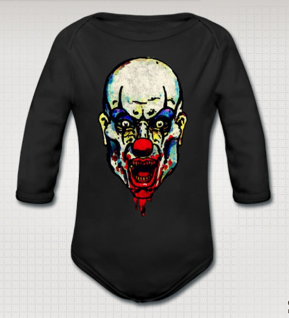 Killer Zombie Clown baby Onesie