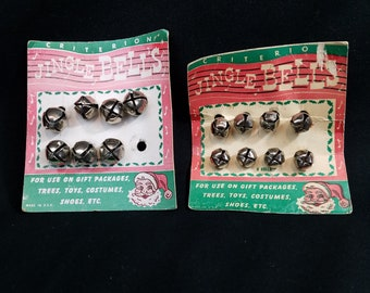 Vtg NOS Criterion Jingle Bells 2 Original Packages 18mm and 21mm Size