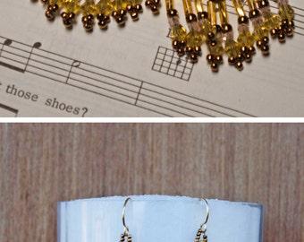 Earrings Czech Golden Chandelier Earrings For Women Gold Bronze Blush Pink Fringe Earrings Yellow Bronze Pink Gold Long Earring Spectacular!