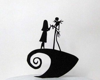 Wedding Cake Topper The Nightmare Before Christmas sihouette