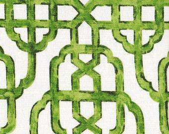 Tailored Bedskirt Imperial Jade Green Lattice