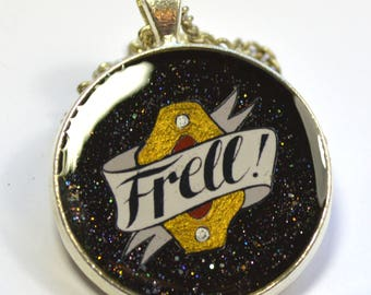 "Farscape ""Frell!"" Hand Painted Resin Pendant"