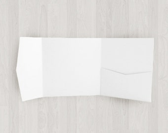 10 Square Pocket Enclosures - White - DIY Invitations - Invitation Enclosures for Weddings & Other Events
