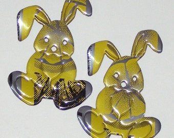 2 Bunny Magnets - Sparks Energy Lemon Yellow Can