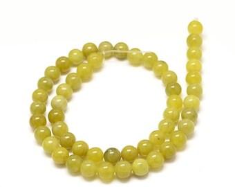 Green Peridot Round Beads. Semi-Precious Gemstones. 6mm, 8mm or 10mm.