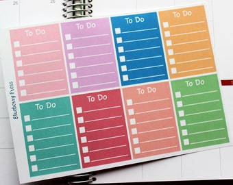 To do planner sticker boxes rounded edge Limelife Layout C
