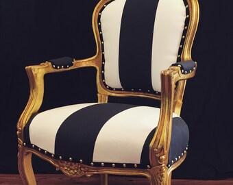 Gold Leaf French Chair
