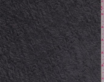 Black Crushed Chiffon, Fabric By The Yard