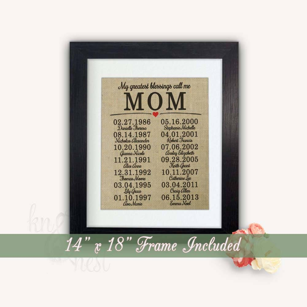 14 x 18 Frame Included Gift Mom Gifts for Mom