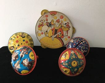 1940's Tin Litho Noisemakers