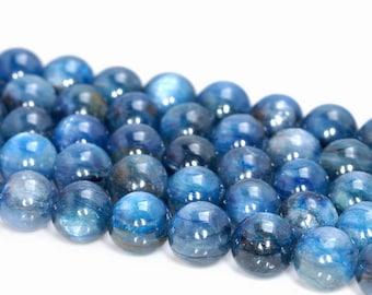 9mm Blue Kyanite Gemstone Grade A Round 9mm Loose Beads 7.5 inch Half Strand (90188848-89)