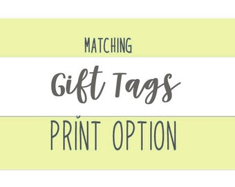 Gift Tags Matching for Baby Shower - PRINT OPTION