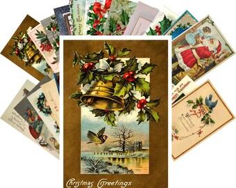Postcards Set 24pcs * Vintage Christmas Greeting Cards Victorian CH4001