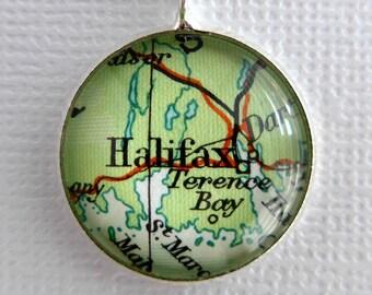 Bridesmaids Gift Idea, Bronze Pendant, Personalized Maps, Wedding Jewellery, Bride Gift Idea, Customised Map Jewellery