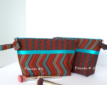 Zippered Pouch-Cosmetic Bag-Travel Bag-Accessory Bag