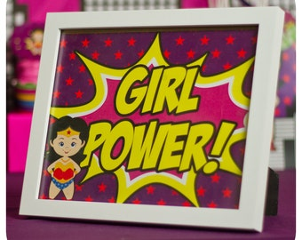 Supergirl; Supergirl Party; Supergirl Birthday Party; Supergirl Birthday; Supergirl Birthday; Super Girl; Super Girl Party Signs