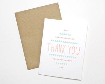 Thank You Card- Folk