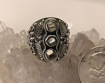 Pyrite/Healer's Gold Nugget Ring, Size 7