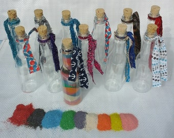 "1 Dozen  6 1/2"" Crystal Clear Bottles with Corks (Bottles Only) FREE SHIPPING"