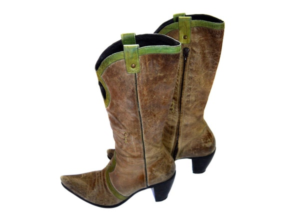 boot Made women leather Italy Vintage Vic Matie brown real in FTwnxq6Ptp