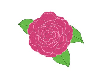 Camellia Flower Alabama State Flower Embroidery Machine Design