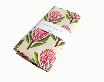 pretty proteas tea/dish towel