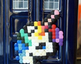 Pixel unicorn necklace