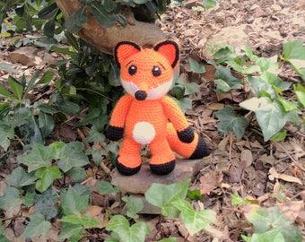 Stuffed fox doll - Fox plush - Red fox plush - fox plushie - fox stuffed animals - red fox - fox toy - crochet fox - stuffed fox - foxy