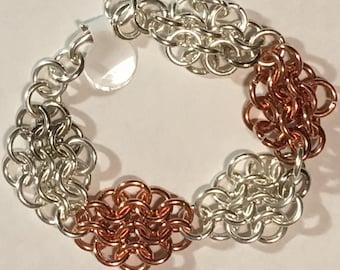 European 4-in-1 Weave Chainmail Bracelet