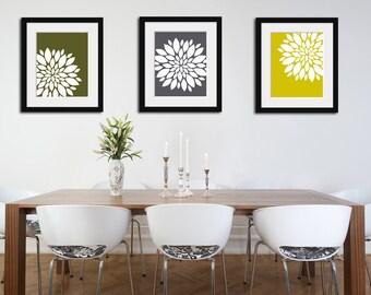 Floral Prints, Floral Decor, Flower Art, Living Room Decor, Bedroom Decor, Housewarming Gift, Floral Art, Kitchen Decor, Kitchen Art