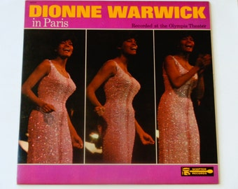 "Dionne Warwick in Paris - ""Message to Michael"" - ""Walk on By"" - ""I Love Paris"" - Scepter Records 1966 - Vintage Vinyl LP Record Album"