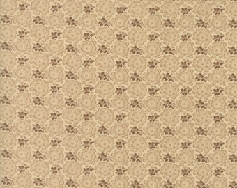 Moda Collections Preservation Quilt Fabric 1/2 Yard By Howard Marcus - Muslin Brown 46234 19