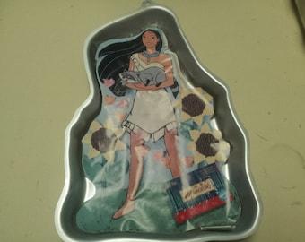 pocahontas cake pan,retired cake pan,wilton cake pans,character cake pans, cake decorating,cake supplies