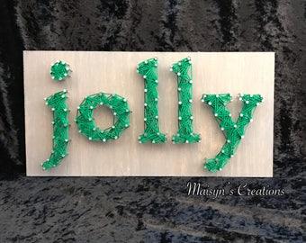 Jolly String Art Sign | READY TO SHIP