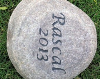 Personalized Pet Memorial Stone Grave Marker Garden Memory Stone Grave Memorial Burial Stone Garden Marker 5-6 Inch