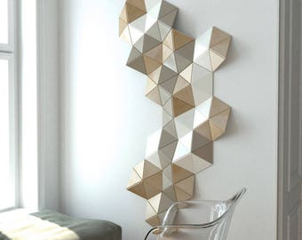 Beautiful 3D Wall Decoration, Sculpture, 3d Wall Art, Wooden Wall Decor, Geometric Wall  Decor, Wood Wall Art Design, Decorative Wall Sculpture