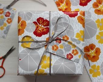 Nasturtium Gift wrap and tags