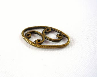 10 oval connectors bronze 22X12mm watermark (co29)