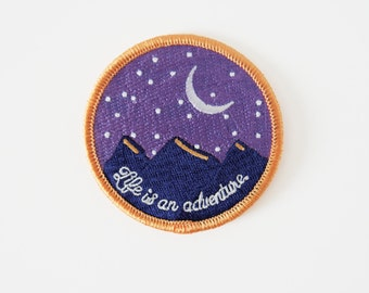 FREE SHIPPING | Night Adventures Iron On Patch