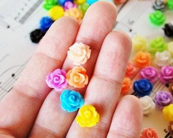 60 Rose Cabochons 10mm