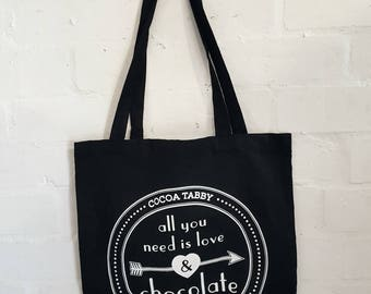 Tote bag - All you need is love & chocolate